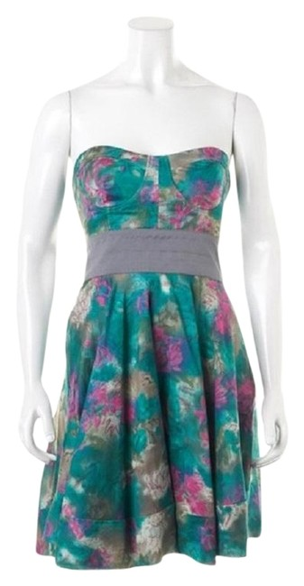 Preload https://img-static.tradesy.com/item/23219086/elizabeth-and-james-pink-teal-silver-floral-silk-strapless-bustier-short-cocktail-dress-size-8-m-0-1-650-650.jpg