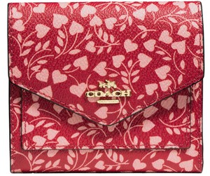 Coach cOACH MALL WALLET WITH LOVE LEAF PRINT 22928