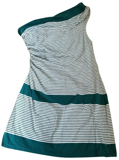 Preload https://img-static.tradesy.com/item/23219384/max-studio-teal-and-white-one-shoulder-striped-cotton-mini-short-casual-dress-size-12-l-0-1-650-650.jpg