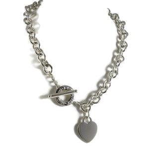 """Tiffany & Co. Tiffany & Co. Sterling Silver 16.5"""" Heart Tag Toggle Necklace"""