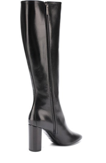 Saint Laurent Signature Logo Ysl Knee High Black Boots