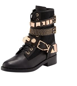 e04cfffa8800 Ivy Kirzhner New Bowery 18k Studded Rose Gold Black Boots