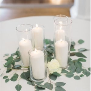 Quick Candles Off White Glass Multiple Sizes Votive/Candle