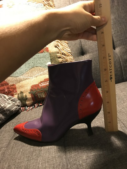 Miu Miu Statement Piece Vintage Designer Couture Purple Boots