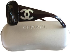 312c2d9c05 Chanel Brown Cc Logo Mother Of Pearl Sunglasses - Tradesy