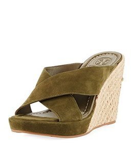 Tory Burch Olive green Wedges