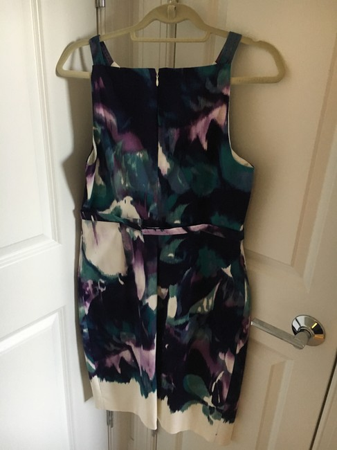 Elie Tahari short dress Purple cream navy aqua on Tradesy