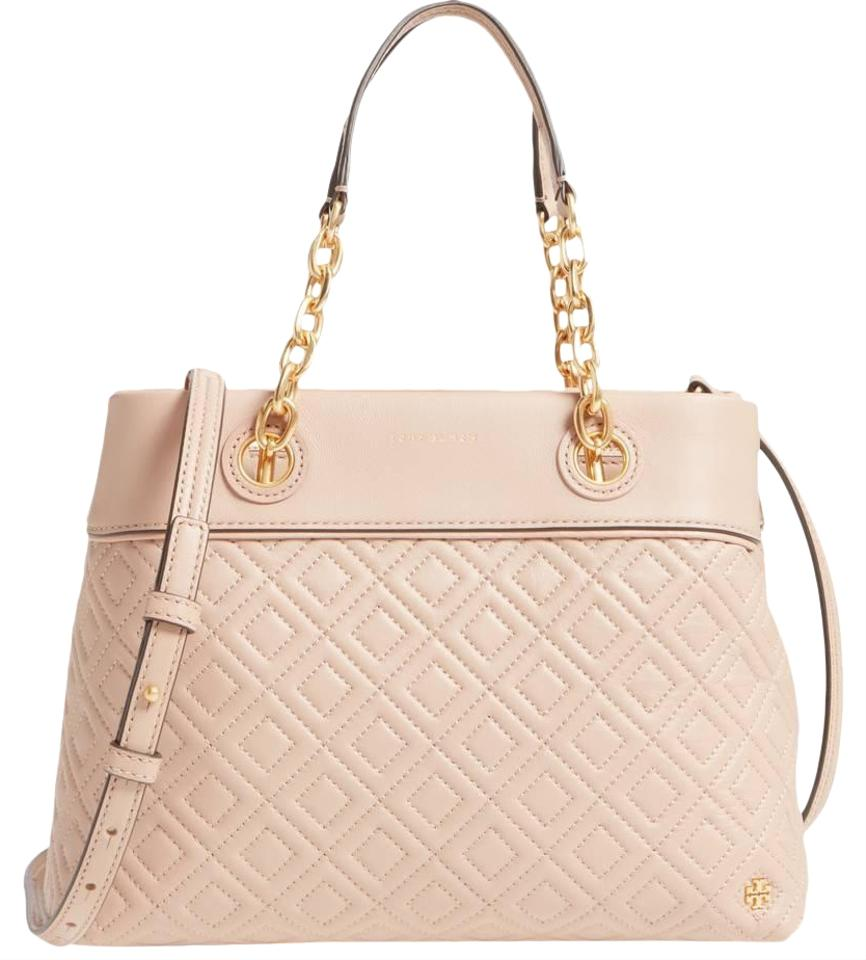 dace950c386 Tory Burch Fleming Small Tote New Mink Leather Cross Body Bag - Tradesy