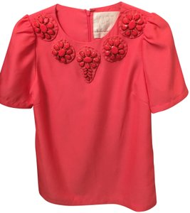 karta s Karta Coral Night Out Top Size 4 (S)   Tradesy karta s