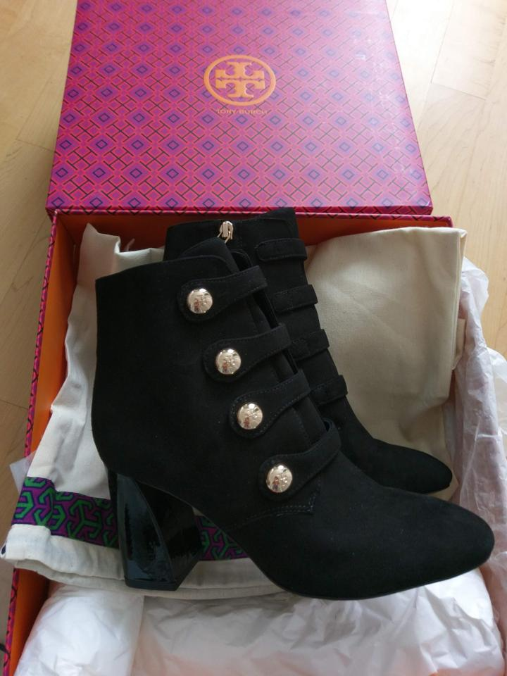 8097f2323 Tory Burch Black Marisa 85mm Strappy Boots Booties Size US 7.5 Regular (M
