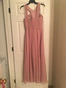 c2f88bc521c4 Azazie Dusty Rose Chiffon Kaleigh Traditional Bridesmaid/Mob Dress Size 6 (S )