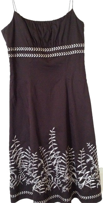 Preload https://img-static.tradesy.com/item/2322026/ann-taylor-brown-with-white-trim-cotton-spaghetti-straps-mid-length-short-casual-dress-size-4-s-0-0-650-650.jpg