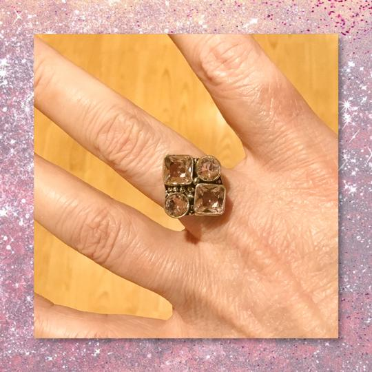 Other New Genuine Pink Quartz 925 Silver Ring