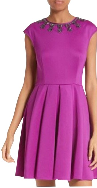Preload https://img-static.tradesy.com/item/23220338/ted-baker-purple-70-j-adore-embellished-fit-and-flare-short-cocktail-dress-size-6-s-0-3-650-650.jpg