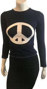 Letarte Swimwear LETARTE 10318 NAVY W/PEACE SIGN RASH GUARD SZ XS
