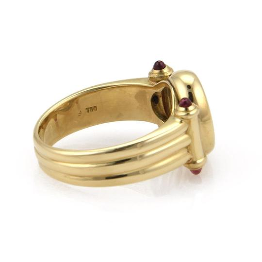 Chopard 18K Yellow Gold Happy Diamonds & Ruby Floating Circle Design Ring