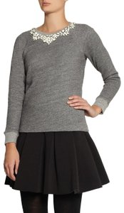 J.Crew Sweater Embellished Collar Beaded Collar Couture Sweatshirt
