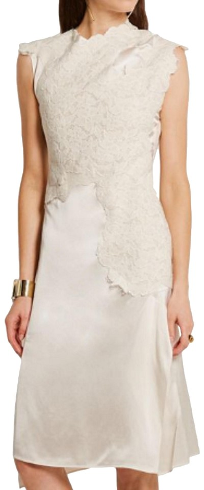 3.1 Phillip Lim Ivory Women\'s Natural Destroyed Lace Satin Short ...