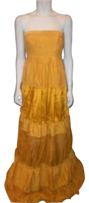 Preload https://img-static.tradesy.com/item/23220477/kaufmanfranco-curry-yellow-leather-cotton-strapless-maxi-gown-40-long-night-out-dress-size-4-s-0-1-650-650.jpg