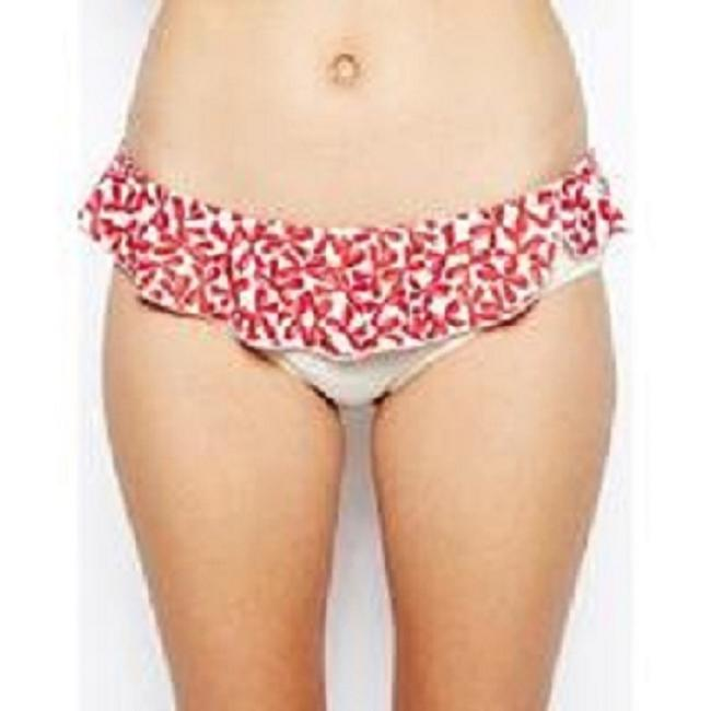 Victoria's Secret Sexi PISTOL PANTIES Marilyn Bikini SET 2-pieces Red &Cream Bows