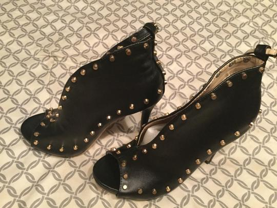 Other Open Toe Open Toe Booties Studded Studded Booties Studded Black Pumps