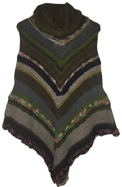 Preload https://img-static.tradesy.com/item/23220781/free-people-sally-taylor-one-of-a-kind-hand-knit-evergreen-plaid-poncho-sweaterpullover-size-4-s-0-1-650-650.jpg