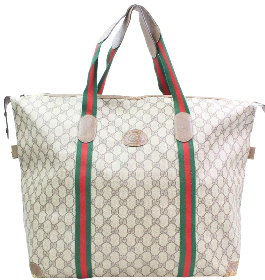 6c4d4f5023d Gucci Sold 12 5 18 Av Lm Extra Large Web Tote 866529 Grey Canvas ...