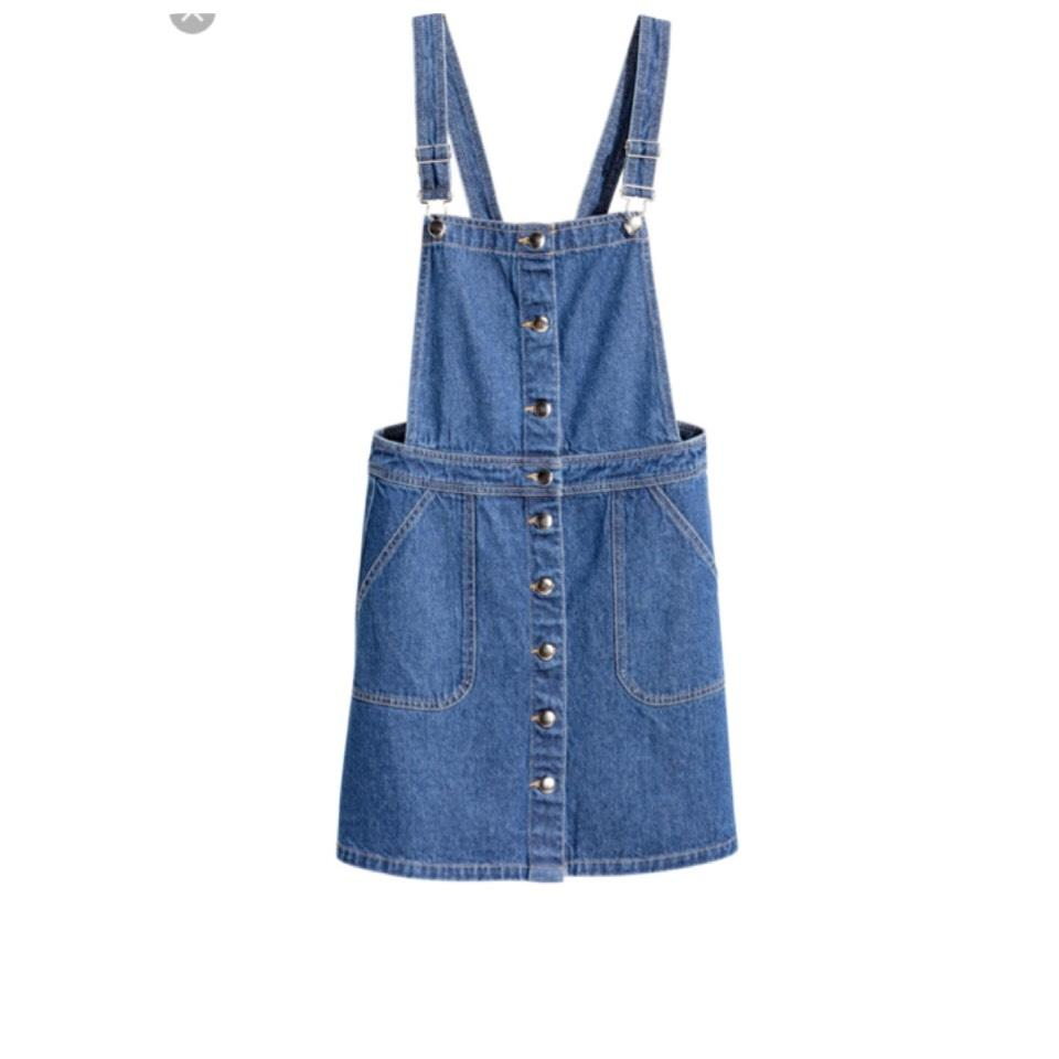 a4bcd951ffe H M Denim Bib Overall Short Casual Dress Size 4 (S) - Tradesy