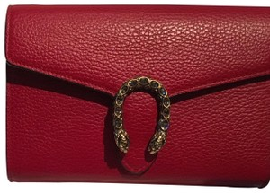 acbd2cf9a12 Added to Shopping Bag. Gucci Cross Body Bag. Gucci Dionysus Mini Chain Red  Leather ...