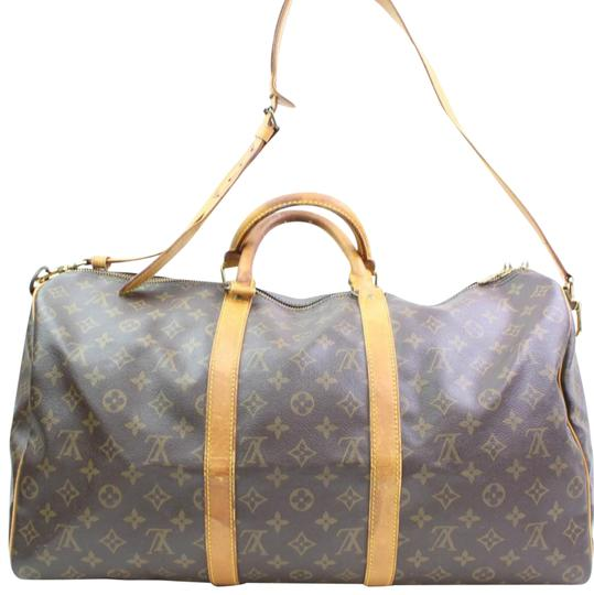 Preload https://img-static.tradesy.com/item/23220944/louis-vuitton-keepall-monogram-bandouliere-50-866534-brown-coated-canvas-weekendtravel-bag-0-1-540-540.jpg