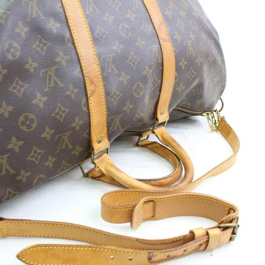 Louis Vuitton Keepall Bandouliere Duffle With Strap Carry On Brown Travel Bag