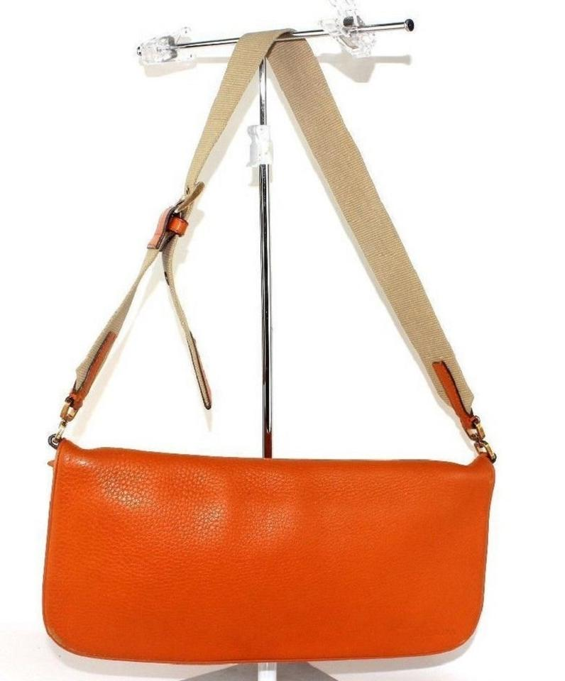 8d8285053 where to buy prada great color high end bohemian supple vintage orange  leather with a canvas