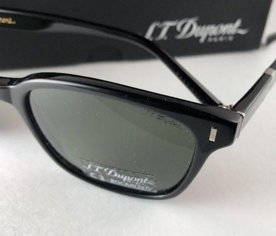 S.T. Dupont New S.T. DUPONT Sunglasses ST 034 C3 Black & Silver w/ Green Polarized