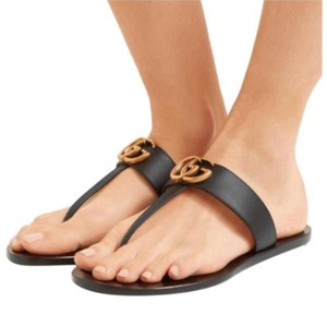 1365ebe4340a Gucci Marmont Leather Sandals Size US 9 Regular (M