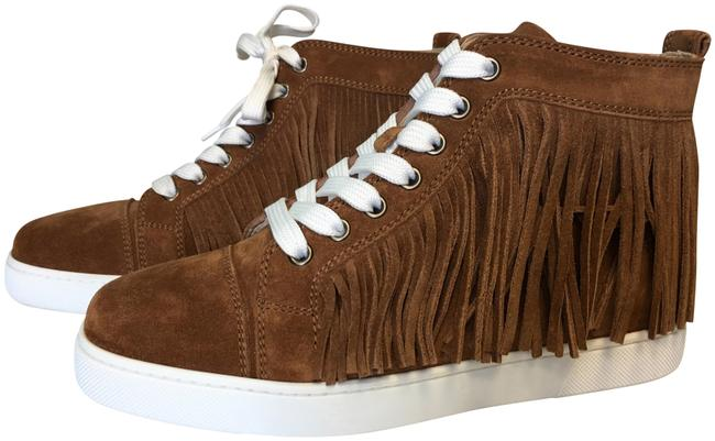 Item - Brown/Tan Classic Coachelita Fringe High-top Lace-up Suede Leather Flat Sneakers Size EU 37 (Approx. US 7) Regular (M, B)