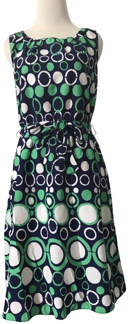 Item - Green/ Blue/ Navy Mid-length Cocktail Dress Size 0 (XS)