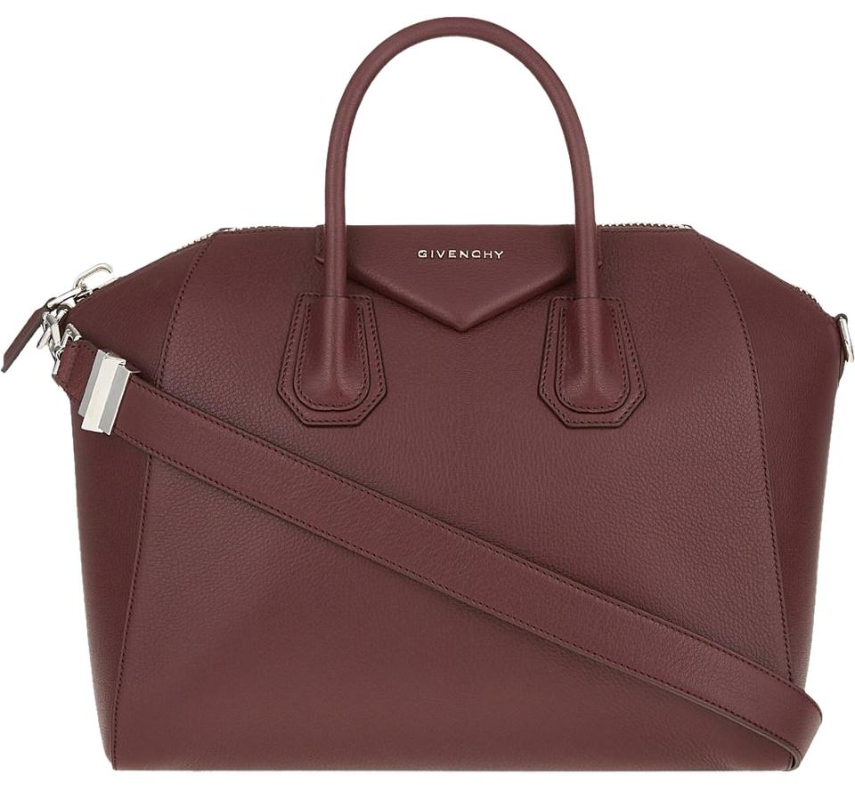 754e1324fc6c Givenchy Antigona Medium Oxblood Burgundy Leather Satchel - Tradesy