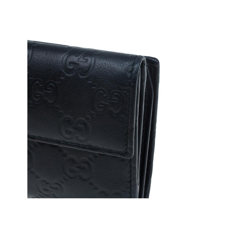 f92e9a7350ab Gucci Gucci Black GG Guccissima Leather Continental Wallet Image 11.  123456789101112