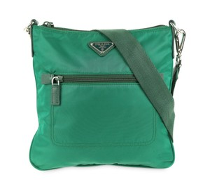 1d1ac105532d Prada Nylon Classic Crossbody Green Messenger Bag