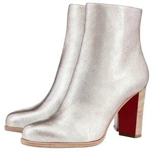 Christian Louboutin Metallic Adox Classic Silver Boots