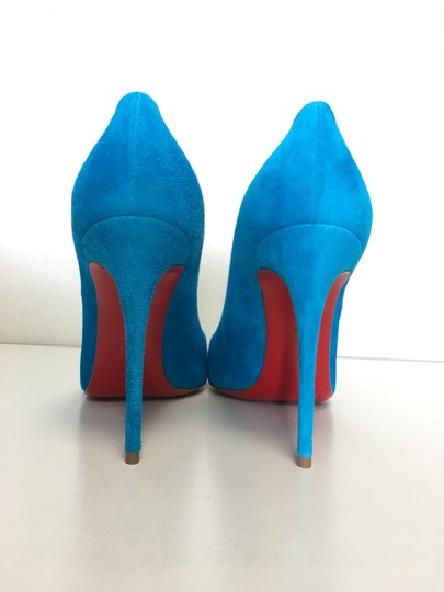 Christian Louboutin Heels Point Toe Heels Suede Suede Blue Pumps