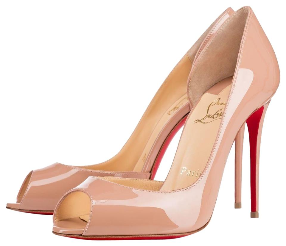 official photos 0507f 0c304 Christian Louboutin Nude Classic Demi You Half D'orsay Peep-toe Patent  Leather Pumps Size EU 37 (Approx. US 7) Regular (M, B) 44% off retail