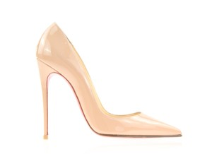 Christian Louboutin Heels Point Toe Heels Patent Leather So Kate Beige Pumps