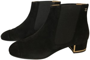 Chanel Suede Classics Pull-on Black Boots