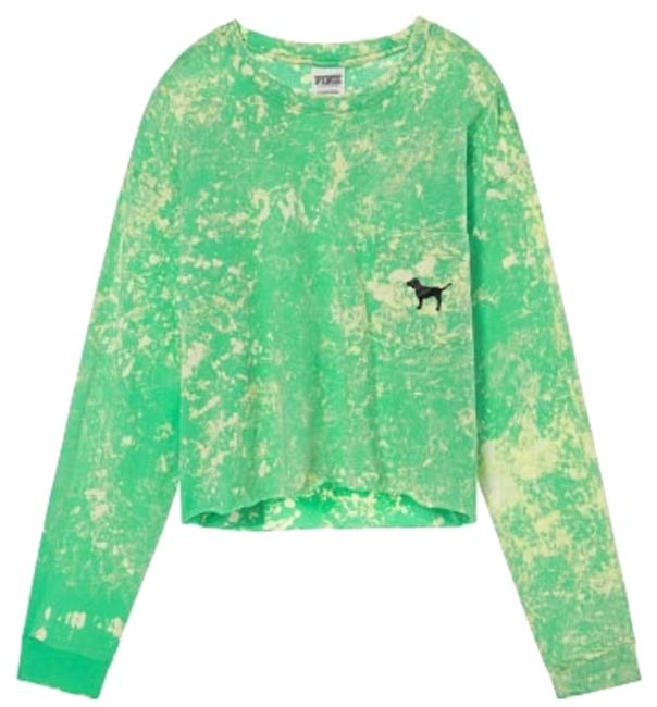 Item - Green Cropped Long Sleeve Tee Shirt Size 12 (L)