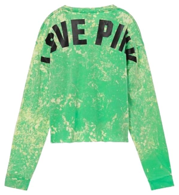 Item - Green Cropped Long Sleeve Tee Shirt Size 8 (M)