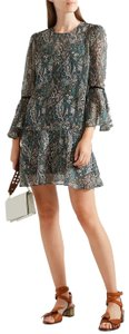 Veronica Beard Sheer Silk Chiffon Mini Summer Dress