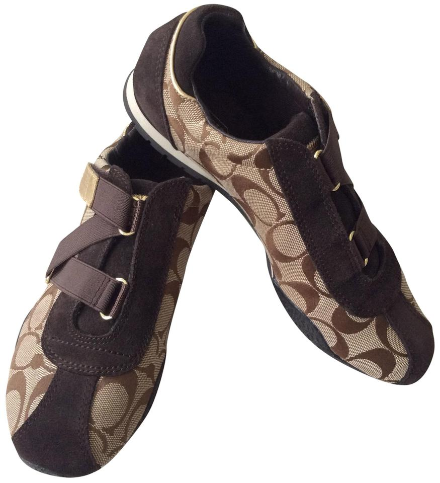 8b4211006cfc Coach Fashion Sneakers Size 7 Signature Tan and Brown Athletic Image 0 ...