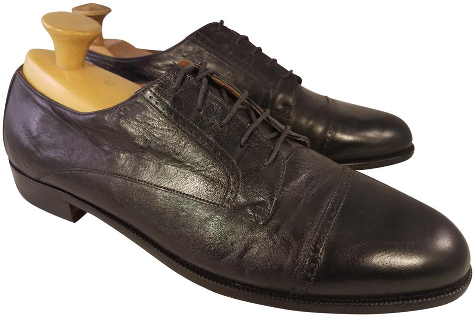 12 M GREAT! BRUNO MAGLI black leather oxfords shoes sz