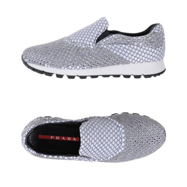 Item - White Grey Silver New Sneakers Size EU 37 (Approx. US 7) Regular (M, B)